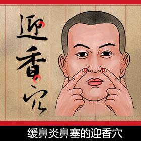 缓鼻炎鼻塞的迎香穴