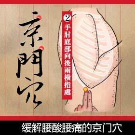 缓解腰酸腰痛的京门穴