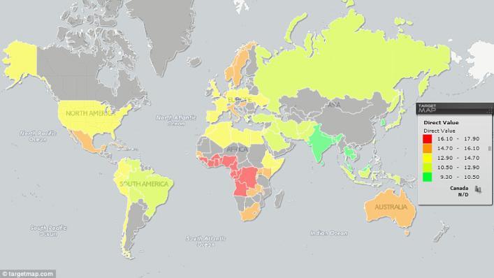 一张图揭示全球丁丁尺寸排名!亚洲男人哭了